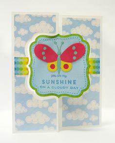 Echo Park I Love Sunshine Butterfly Flip Card by Mendi Yoshikawa - Scrapbook.com