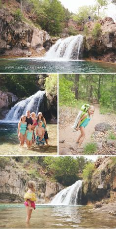 Spending time outdoors as a family. Fossil Creek, AZ. #arizona #family #travel
