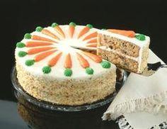Faça um bolo de cenoura para diabéticos com cobertura de cream cheese