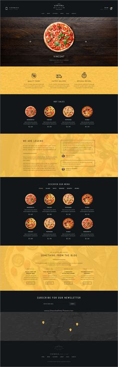 vincet is beautifully design premium #PSD template for #pizzeria, #restaurant, cafe or food order online service websites with 6 homepage layouts and 25 organized PSD pages download now➩ https://themeforest.net/item/vincent-restaurant-pizza-cafe-and-online-delivering/19220268?ref=Datasata