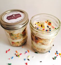 So cute! It is a cupcake in a jar! This one is a fun-fetti cake with buttercream frosting. It is made by Zero Guild Sweets on #scottsmarketplace, so it is gluten-free, low in sugar, and high in protien.