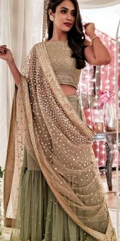 30 Exciting Indian Wedding Dresses That You'll Love ❤ indian wedding dresses sari with detached skirt sequins gold eventilaindia # indian wedding outfits 30 Exciting Indian Wedding Dresses That You'll Love Party Dresses Uk, Muslim Wedding Dresses, Designer Party Dresses, Indian Gowns Dresses, Indian Wedding Outfits, Indian Outfits, Wedding Gowns, Wedding Bride, Gothic Wedding