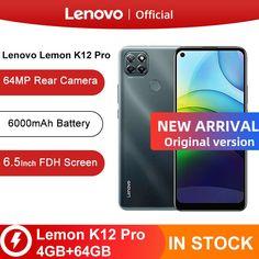 Original Official Lenovo Lemon K12 Pro Mobile Phone 4 GB 64 GB 6.5'' Snapdragon Octa-core 6000mAh 64MP Android 10 Smartphone Tags: Lenovo legion, Lenovo phone, Lenovo mobile, Lenovo z6 pro, Lenovo k6, Celular Lenovo, Lenovo k5, portatil Lenovo, Lenovo Lemon K12
