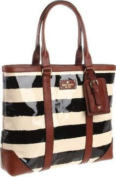 Kate Spade bag - I don't typically do stripes but I like the black and brown combination.