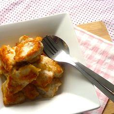 Lekker, zoete kipnuggets voor kinderen! Recept op http://dekinderkookshop.nl/recepten-voor-kinderen/sweet-chicken-nuggets/