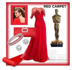 """TRed Carpet"" by valerie-42 ❤ liked on Polyvore featuring Zuhair Murad, Roger Vivier, Roberto Coin and Emma Watson"