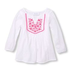 ea23a0e621d Baby Girls Baby And Toddler Long Sleeve Embroidered Cover-Up - White - The  Children s