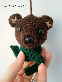 PATTERN Brown Bear Amigurumi Ornament  Babysafe by lostsentiments - Instant Download