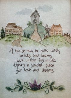 Love and Dreams Hand Embroidery pattern | Stitching Cow