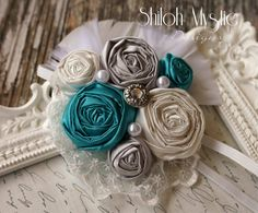 Turquoise HEADBAND Turquoise Hair by ShilohMystieDesigns on Etsy, $15.99