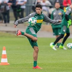 First training session for the Bundesliga club Borussia Moenchengladbach