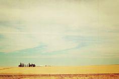 Farm Polaroid Canvas Print