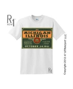 0b4891f26c18ca Michigan football shirt made from an authentic 1931 Michigan vs. ROW has  the best vintage Michigan football ticket shirts. Perfect vintage Michigan  shirt ...