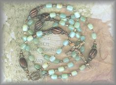 Peruvian opal bead rosary from the Rosary Workshop