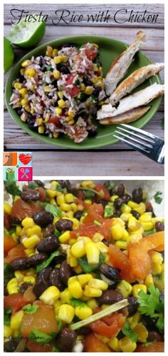 Fiesta Rice with Chicken Recipe on Having Fun Saving and Cooking