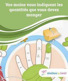 Vos mains vous indiquent les quantités que vous devez manger