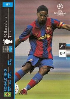 Ronaldinho of Barcelona in Concept Board, Fc Barcelona, 2000s, Champion, Football, Baseball Cards, Sports, Hs Sports, Futbol