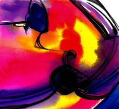 Watercolor Abstraction 117 .. Original by KathyMortonStanion, $50.00
