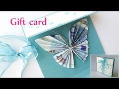 DIY crafts: GIFT CARD Money Holder (butterfly) - Innova Crafts - YouTube