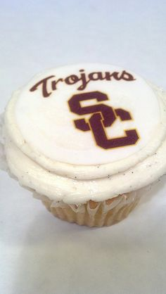 USC cupcakes with edible image