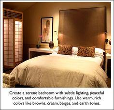 Feng Shui bedroom.