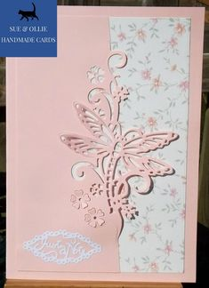 White Glitter, Pink White, Bird In A Cage, Pink Cards, Glitter Cards, Etsy Uk, Card Maker, Greeting Cards Handmade, Homemade Cards