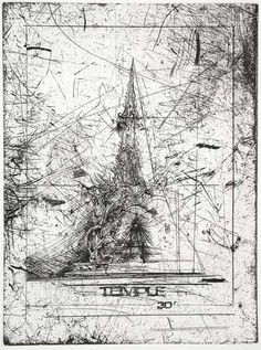 TEMPLE by David Best Eastside Editions Limited Edition Print of Burning Man Temple of 2004