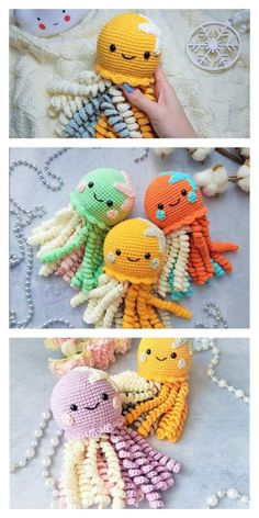 Crochet Fish, Crochet Lovey, Crochet Octopus, Crochet Baby Toys, Crochet Dragon, Crochet Amigurumi Free Patterns, Easy Crochet Patterns, Crochet Designs, Crochet Dolls