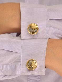 Blossom Watch-Part Cufflinks for Women