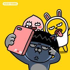 kakao talk Wallpaper Iphone Cute, Cartoon Wallpaper, Funny Character, Character Design, Line Friends, Funny Friends, Kakao Friends, Friends Wallpaper, Funny Stickers