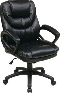 Shop Staples® for Office Star Work Smart™ Faux Leather Mid Back Managers Chair, Black Chocolate. Enjoy everyday low prices and get everything you need for a home office or business. Get free shipping on orders of $49.99 or greater. Enjoy up to 5%
