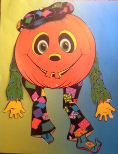 "Vtg 1976 Beistle 30"" Hippie Jack O Lantern Goblin Jointed Halloween Decoration"