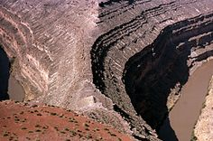 A view of the Goosenecks of the San Juan River.