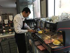 Welcome to Mr Jehad from Qatar to Caffè Terzi Vignola to learn Italian Espresso