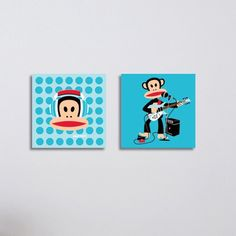 Upgrade your space with this modern Julius the Monkey picture set from the Paul Frank wall art collection. These modern pictures set contain two adorable pictures, in one picture, Julius play the electric guitar and in the second picture features Julius w Music Wall Decor, Music Wall Art, Cool Wall Art, Modern Pictures, Wall Art Pictures, Cute Pictures, Wall Decor Stickers, Wall Decals, Monkey Pictures