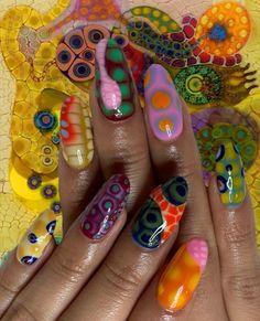 Nail Design Stiletto, Nail Design Glitter, Frensh Nails, Swag Nails, Nagellack Design, Acylic Nails, Manicure E Pedicure, Funky Nails, Fire Nails