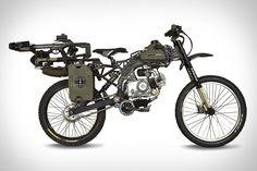 Survival Bike...Überleben Sie als einzigster die Apokalypse mit diesem vollausgestatten Survival Bike mit Benzintank für bis zu 500 Km