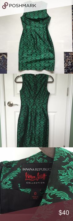 Banana Republic Lillen Scott Holiday Dress Bought during the Mad Men promotion, worn once for a holiday party. Very form fitting, classy and flattering. Has some unnoticeable pulls, but otherwise really great condition.  • NO trades or PayPal. • REPOSH items are firm, but ask anyway! • Bundles are highly encouraged! Willing to give you a better deal if bundled! • USE THE OFFER BUTTON, please! • Happy to answer q's and possibly model (if it still fits me). • Items also available on ♏️erc (my…
