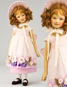 Marietta 11 Inch Tall Felt Doll Special Limited Edition : 1 Created in 2011