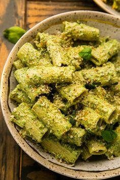 Vegetarian Pesto Pasta, Creamy Pesto Pasta, Healthy Pesto, Pesto Pasta Recipes, Best Creamy Pesto Recipe, Easy Pesto Recipe, Pasta With Pesto, Chicken Pesto Pasta, Recipes With Pesto