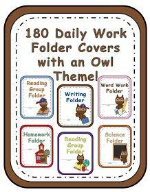 Fern Smith's Classroom Ideas!: Owl Themed Classroom Folder Covers!