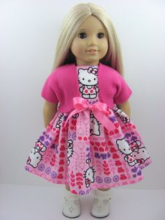 Pink Hello Kitty Doll Dress Sash and Fleece by TheWhimsicalDoll2, $15.00