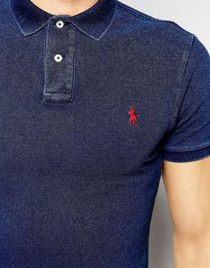 8355867bcf3e Image 3 of Polo Ralph Lauren Polo Shirt in Slim Fit In Indigo - shirts