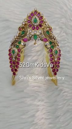 Silver Wedding Jewelry, Bridal Jewelry, Beaded Jewelry, Silver Jewelry, Vanki Designs Jewellery, Gold Jewellery Design, Gold Earrings Models, Silver Earrings, Gold Ring Designs