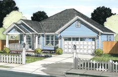 House Plan 4848-00321 - Cottage Plan: 1,748 Square Feet, 3 Bedrooms, 2 Bathrooms