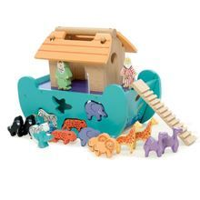 Le Toy Van Le Petit Ark - Wooden Noah's Ark Shapesorter suitable from 12 months. Fast delivery from recommended Le Toy Van Retailer! Baby Toys, Kids Toys, Children Games, Green Toys, Young Animal, Wooden Shapes, Christening Gifts, Toy Store, Educational Toys