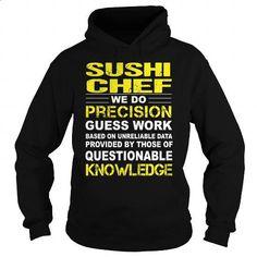 Sushi Chef - #make t shirts #blank t shirt. SIMILAR ITEMS => https://www.sunfrog.com/LifeStyle/Sushi-Chef-94960003-Black-Hoodie.html?60505