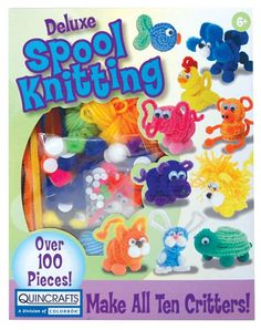 Spool Deluxe Knitting 10 Critters, designed for kids, but I want it!