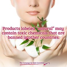 """The word """"natural"""" has no regulatory meaning on cosmetic products. Be sure to use Think Dirty to find #safecosmetics."""