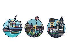 Valparaiso Arte Pop, New Work, Instagram Story, Adobe Illustrator, Landscape Design, Graphic Design, Ink, Stickers, Logos